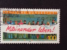 Buy Germany 1 v used stamp 1994 Michel 1725 Living together Integration