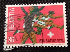 Buy Switzerland 1V USED STAMP 1974 Rhythmics gymnast & hurdlers