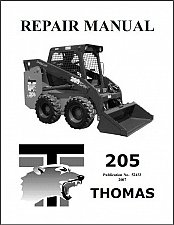 Buy Thomas 205 Skid Steer Loader Service Repair Workshop Manual CD