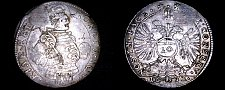 Buy 1632 Swiss Cantons CHUR 10 Kreuzer World Silver Coin - Plugged