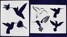Buy 2 Piece Set - Hummingbird Stencils Mylar 14 Mil Painting/Crafts/Stencil/Template