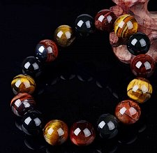 Buy Golden Tiger Eye 10 mm Lava Stone Sterling Silver Cross Bracelet Men Women