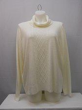 Buy PLUS SIZE 3X Women Cowl Sweater KAREN SCOTT Luxsoft White Long Sleeve Pullover