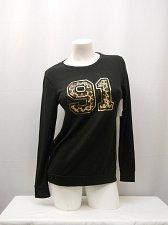 Buy Women Sweatshirt Size M NO BOUNDARIES Black Animal Print Decal Long Sleeves