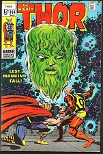 Buy THOR #164 JACK KIRBY STAN LEE Marvel Comics 1968 VF-/VF