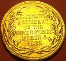 Buy Gem Unc Benjamin Harrison Presidential Bronze Inauguration Medallion~Free Ship