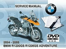 Buy 2004-2005-2006-2007-2008 BMW R1200GS / Adventure RepROM Service Manual on a DVD
