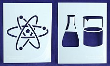 Buy Atom/Beaker/Flask Stencils-2 Piece Set -Mylar 14 Mil Painting/CraftsTemplate