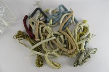 Buy 25 coil molded tele phone receiver (3ft+) mixed colors cords cables spiral wires