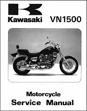 Buy 1987-2004 Kawasaki Vulcan 1500 ( VN1500 ) Classic Service & Parts Manual on a CD