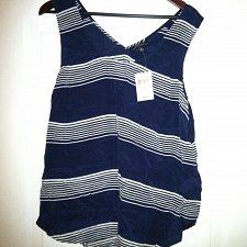 Buy Lucky Brand Women`s XL Striped Surplice-Back Tank Top Silk NWT Retails $99.00