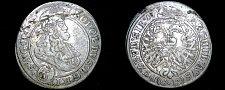 Buy 1697-CB German States Silesia 3 Kreuzer World Silver Coin - Leopold I