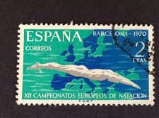Buy SPAIN 1 Used Stamp Mi XII European Swimming Championships