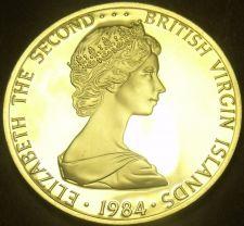 Buy British Virgin Islands 1984 Dollar~Rare Silver Proof~1,629 Minted~Frigate~Fr/Shi