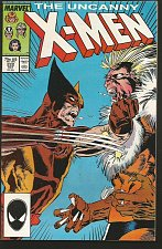 Buy X-men #222 Marvel Comics 1st series 1st print WOLVERINE/SABRETOOTH -- High Grade