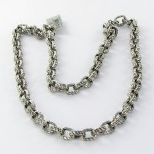 """Buy David Yurman Mens Maritime Oval Link Chain Necklace 22"""" Sterling 925 NWT $1300"""