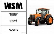 Buy Kubota M105S Tractor WSM Service Workshop Repair Manual CD - -- M 105 S