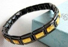 Buy ELECTRIFIED FEEL BETTER EJCN-008A Titanium Steel Bracelet w 20 Germanium Stones