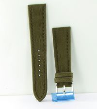 Buy Breitling 105W Military Khaki Green Canvas Strap Steel Tang 24-20mm New