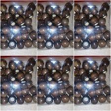 Buy 6 PKS of 36 brown wood dreadlock braid bracelets hair Extension crafts beads