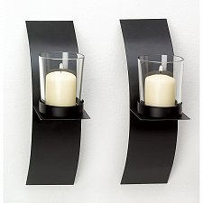Buy 39066U - Modern Art Votive Cup Candle Holder Sconces 2pc
