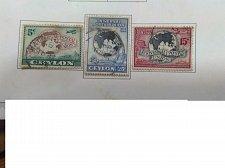 Buy Ceylon 1949 set of three Universal Postal Union (UPU) - 75th Anniversary