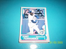 Buy 1988 Score Young Superstars series 11 baseball card TONY FERNANDEZ #6 FREE SHIP