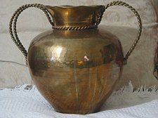 Buy BRASS POT BELLY Type Decorative Flower Vase
