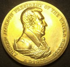 Buy Gem Unc Andrew Jackson Presidential Bronze Inauguration Medallion~Free Shipping
