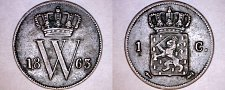 Buy 1863 Netherlands 1 Cent World Coin