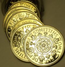 Buy Incredible Roll (20) Large Great Britain 1970 Proof 2 Shilling Coins~Tudor Rose