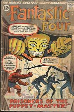 Buy Fantastic Four #8 Silver Age Jack Kirby Stan Lee Marvel Comics Puppet Master
