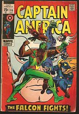 Buy CAPTAIN AMERICA #118 Marvel Comics 1stPrint1969 GENE COLAN &Stan Lee 2nd Falcon