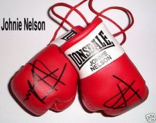 Buy Autographed Mini Boxing Gloves Johnie Nelson