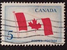 Buy Canada Used stamp 1v ##439i - Canadian Flag (1965) 5¢