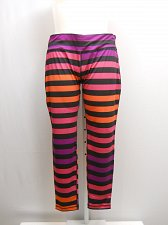 Buy SIZE 2XL Womens Athletic Leggings DANSKIN Striped Fitted Moisture Wicking Hidden