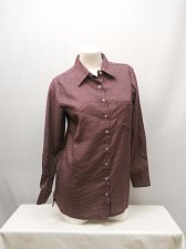 Buy Women Button Down Shirt SIZE S Womens HABAND Checked Long Sleeve Collared Neck