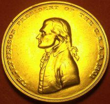 Buy Gem Unc Thomas Jefferson Presidential Bronze Inauguration Medallion~Free Ship