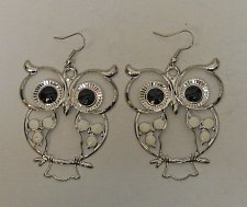 Buy Women Drop Dangle Fashion Earrings Owls Silver Tones FASHION JEWELRY Hook