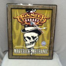 Buy Jesse James Monster Garage Clock Maverick Mechanic Flame Skull (999)