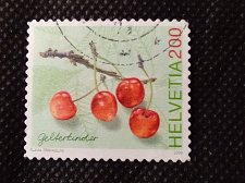 Buy Switzerland 1V USED STAMP 2006 Mi760 Gelterkinder Cherries