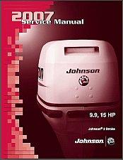 Buy Johnson 9.9 / 15 HP 2-Stroke Outboard Motors Service Manual on a CD
