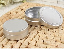 Buy 20 Tin Cosmetic Alumunum Jars Empty Containers Lips Balm Capacity 10 g