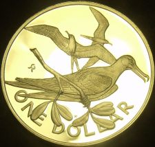 Buy British Virgin Islands 1981 Dollar~Rare Silver Proof~1,124 Minted~Frigate~Fr/Shi
