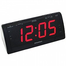 Buy Sylvania SCR1206 Dual Alarm Clock Radio with 1.8-Inch Jumbo Digits