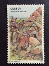 Buy South Africa 1 v used stamp 1981 Michel 581 Battle of Amajuba Attack of the