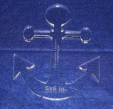 "Buy Anchor 5""x6"" - ~3/8"" Thick - Clear Acrylic - Quilting/Sewing Template"