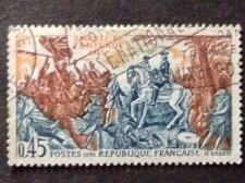 Buy France 1970 1v used stamp Austrian Succession 1745 Battle of Fontenoy