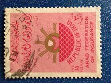 Buy iraq 1v 1965 used stamp Arab Insurance Federation Symbolic representation