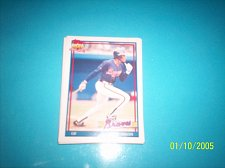 Buy 1991 Topps Traded card of otis nixon braves #84T mint free ship